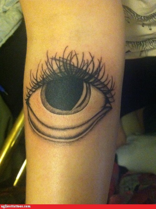 eyeball eyelashes forearm tattoos