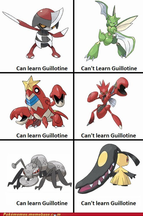 but they are sharp guillotine moves Pokémon the internets - 6308280064