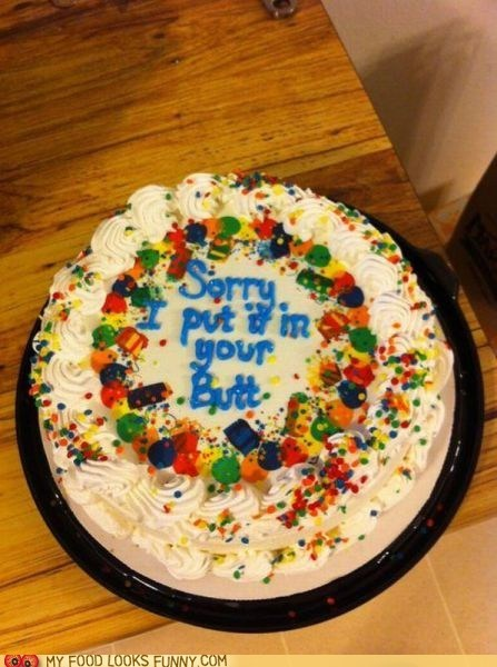 apology butt cake icing sorry - 6308313088