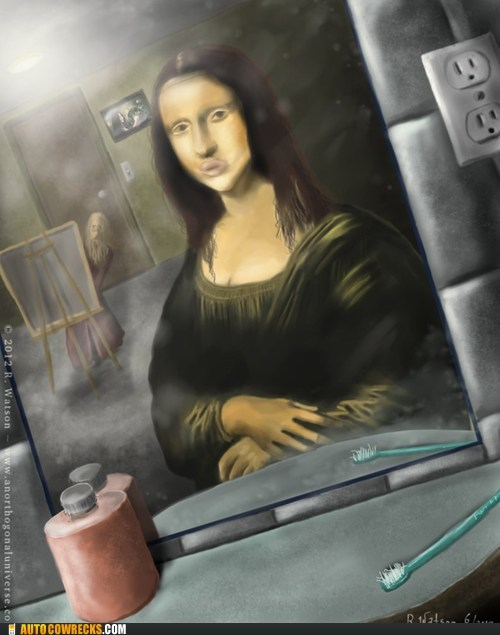 duck lips mona lisa self poortraits - 6308577536