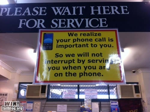 cell phone clever customer service ouch phone rude