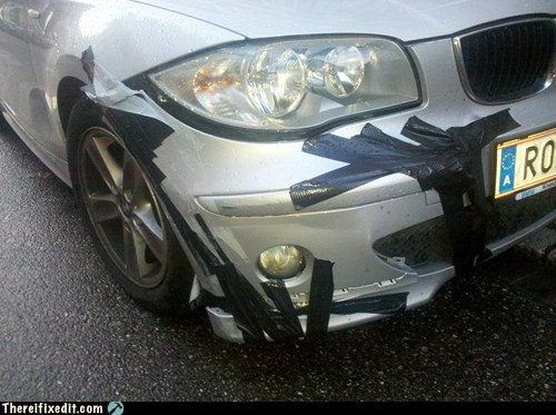 autobahn,beemer,bmw,bumper,duct tape,electric tape,Germany
