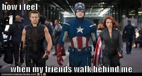 avengers Badass Black Widow chris evans friends Jeremy renner scarlett johannson walking