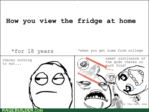 college fridge parenting Rage Comics truancy story - 6309400064