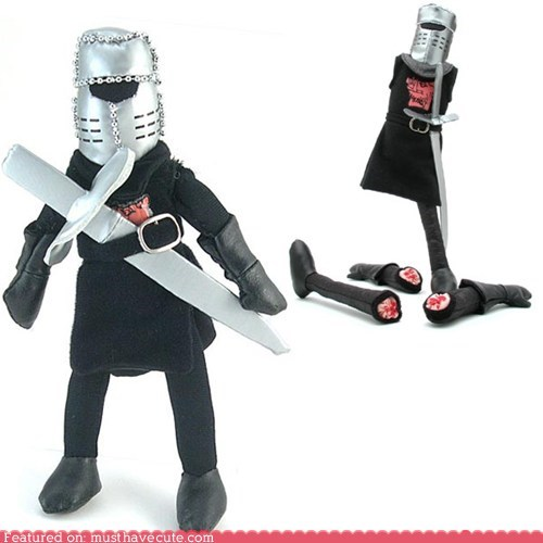 best of the week black knight doll limbs monty python Plush removable - 6309503488