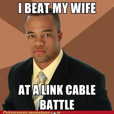 Battle link cable meme Memes successful black man - 6309548800