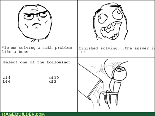 math Rage Comics table flip truancy story