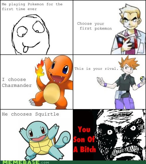 all that racket,Pokémon,Rage Comics,rival