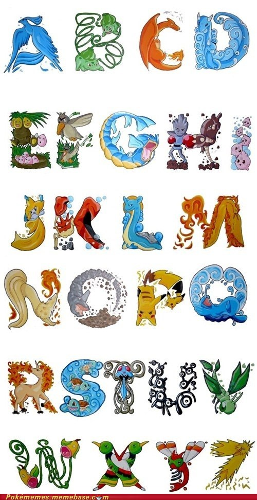 alphabet art awesome best of week Pokémon the internets - 6310201344