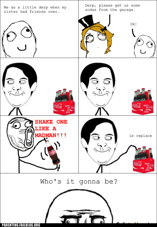 coke bottles friends Rage Comics sister
