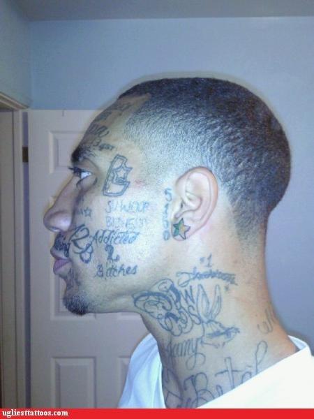 face tattoos neck tattoos prison tattoos - 6310705408