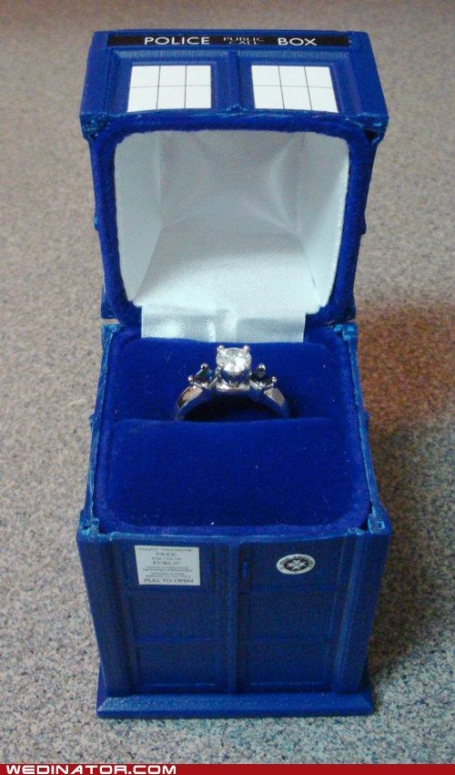 doctor who,engagement rings,funny wedding photos,Hall of Fame,Ring Box,tardis