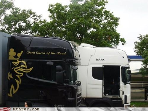 dark queen of the road mark semi truck - 6310768640