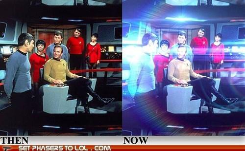 Captain Kirk DeForest Kelley james doohan JJ Abrams lens flare Leonard Nimoy McCoy Nichelle Nichols scotty Spock Star Trek uhura William Shatner - 6310900736