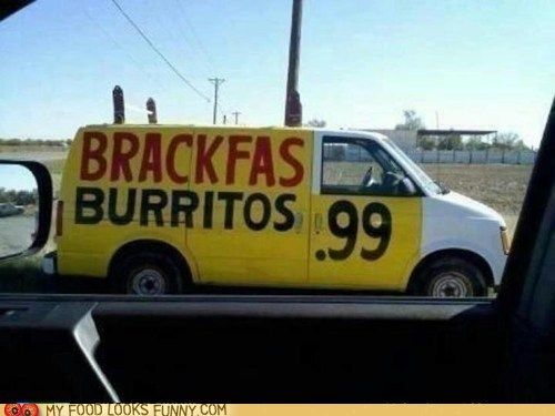best of the week breakfast burrito spelling truck yum