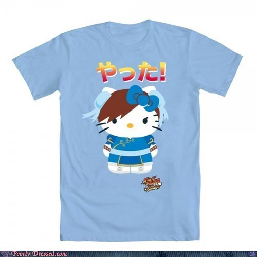 chun li,cute,hello kitty,mashup,Street fighter,yatta