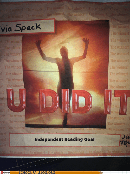 grammar,independent reading goal,spelling,u did it
