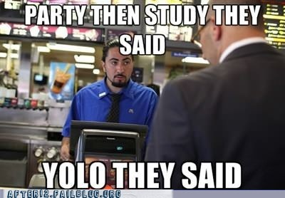 homework McDonald's mcds party then study school studying working at mcdonalds yolo - 6311134208