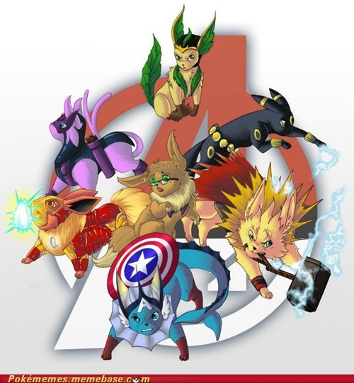art,avengers,best of week,crossover,eevee,eeveelutions,Pokémemes