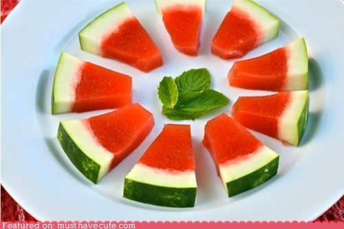 fruit,jello shots,rind,watermelon