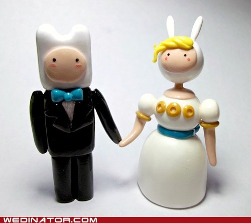 adventure time cake toppers funny wedding photos