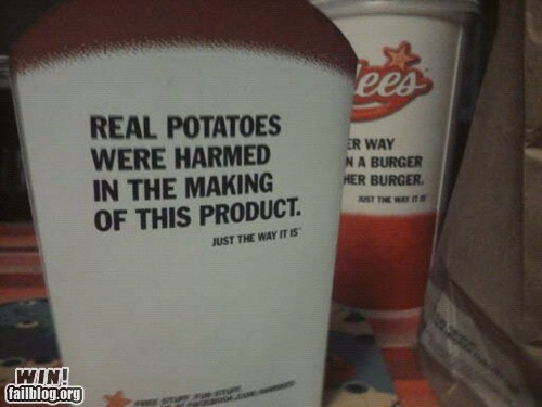 clever fast food fries potatoes troofax true facts - 6311499008