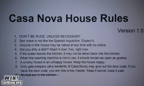 house party time rules sign troofax true facts