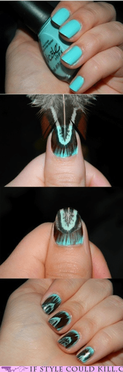 cool accessories feathers nail art nails - 6311583488