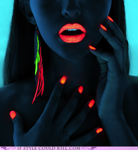 cool accessories lips makeup nails neon - 6311675136