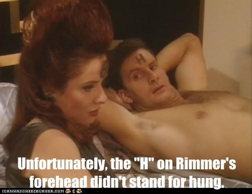 arnold rimmer chris barrie forhead hologram hung jane horrocks nirvanah crane red dwarf - 6311830528