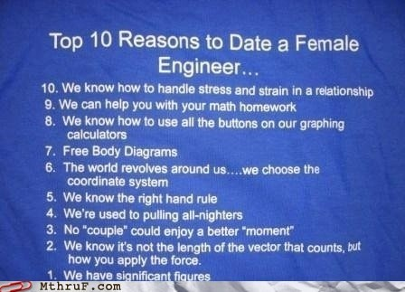 dating an engineer,engineer,engineering logic,Hall of Fame
