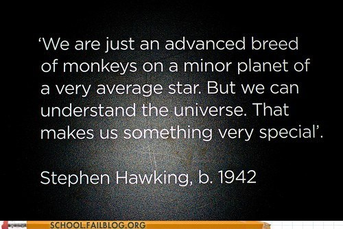 monkeys stephen hawking understanding the univers understanding the universe Words Of Wisdom - 6312918016