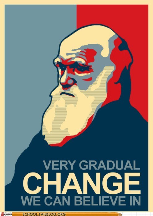 biology 101 change we can believe in Darwin evolution Hall of Fame
