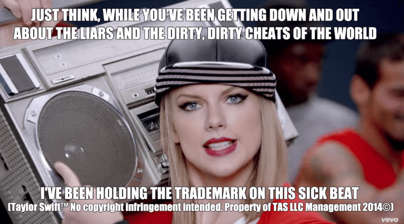 taylor swift's trademarked phrases