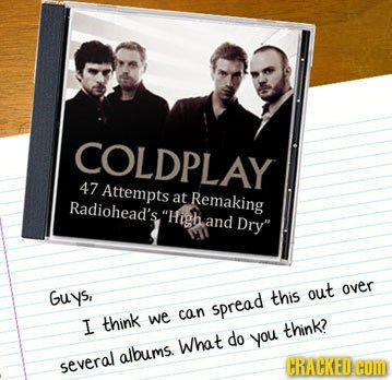 coldplay,copying,radiohead