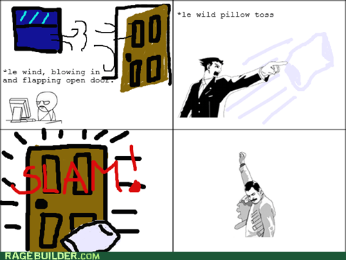 f yeah freddie phoenix wright Pillow Rage Comics slam - 6313682688