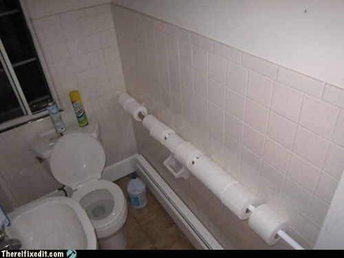 bathroom g rated there I fixed it toilet toilet paper - 6313989376