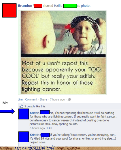 99 problems cancer facebook reposting - 6314875648