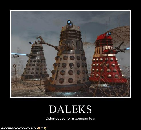 color coded,daleks,doctor who,Exterminate,fear,maximum