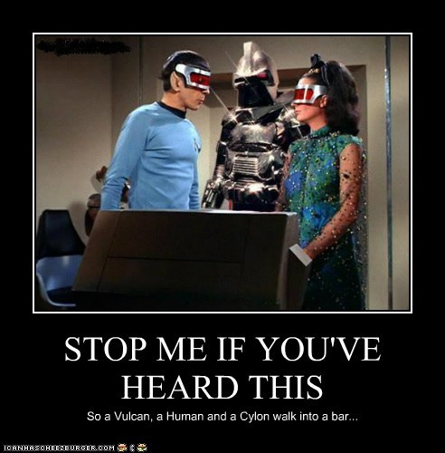 cylon joke Leonard Nimoy sparkly Spock Star Trek stop-me-if-youve-heard-t stop-me-if-youve-heard-this - 6315000064