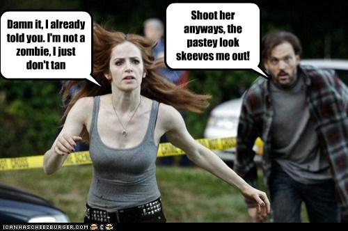 damn it,ginger,grimm,shoot,skeeved,tan,zombie