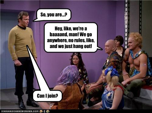 band,Captain Kirk,hippies,join,Shatnerday,Star Trek,William Shatner