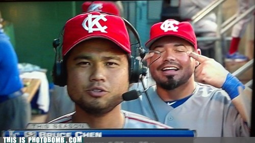 Awkward baseball bruce chen dats wacist impression kansas city royals