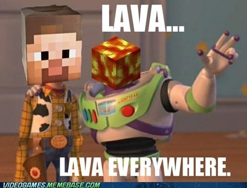 lava meme minecraft toy story - 6316756224