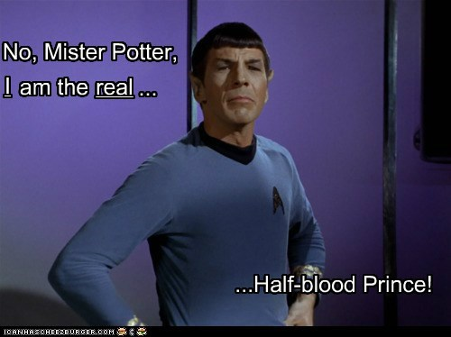 half blood prince harry Leonard Nimoy real revelation Spock Star Trek
