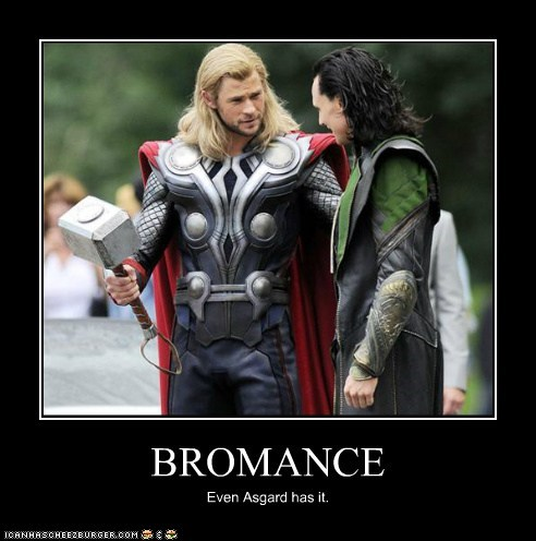 asgard,avengers,bromance,chris hemsworth,loki,tom hiddleston