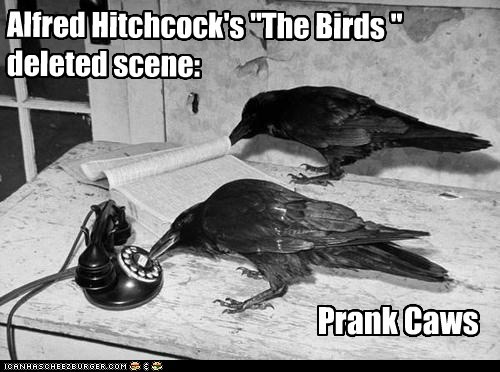 "Alfred Hitchcock's ""The Birds "" deleted scene: Prank Caws"