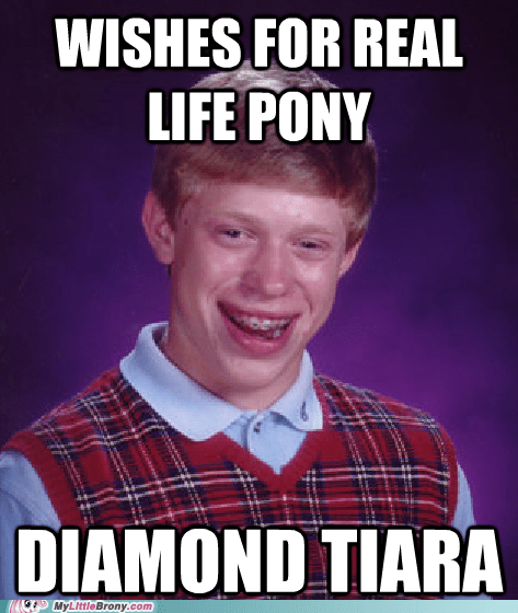 diamond tiara. bad luck b diamond-tiara-bad-luck-brian meme - 6317276672