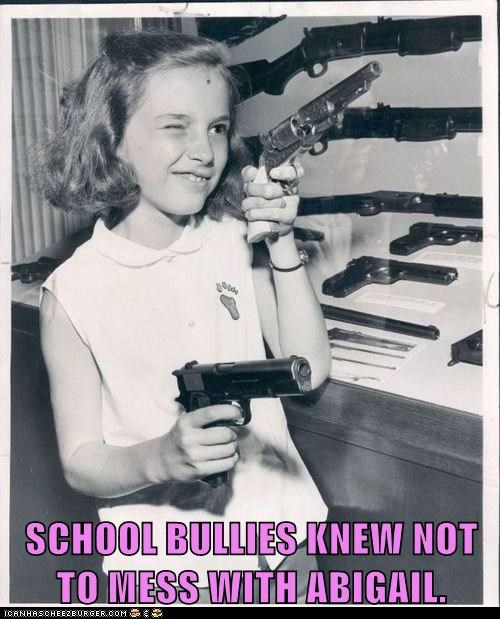 beware,bullies,girl,guns,historic lols,kid,scary