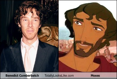 actor animation benedict cumberbatch funny moses TLL